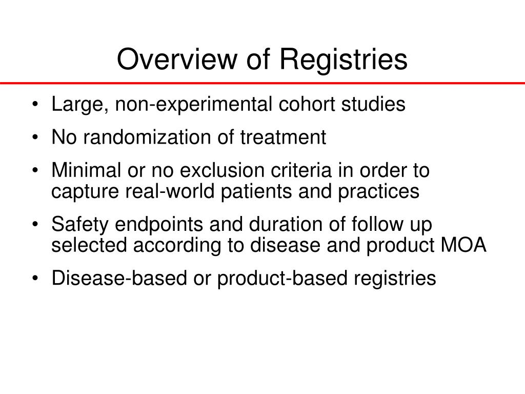 Overview of Registries