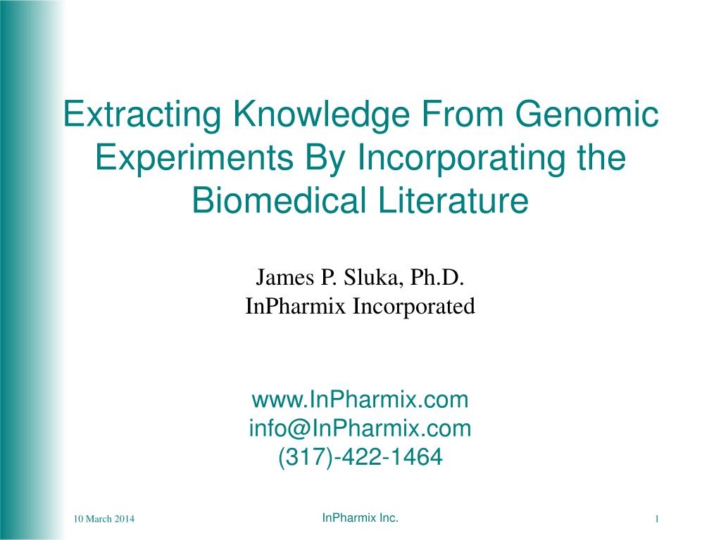 Extracting Knowledge From Genomic Experiments By Incorporating the Biomedical Literature