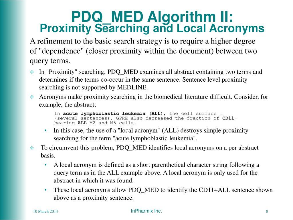 PDQ_MED Algorithm II: