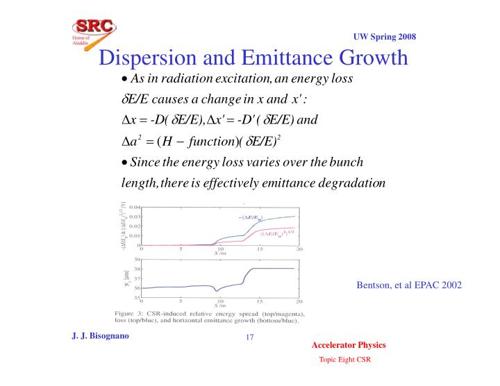 Dispersion and Emittance Growth
