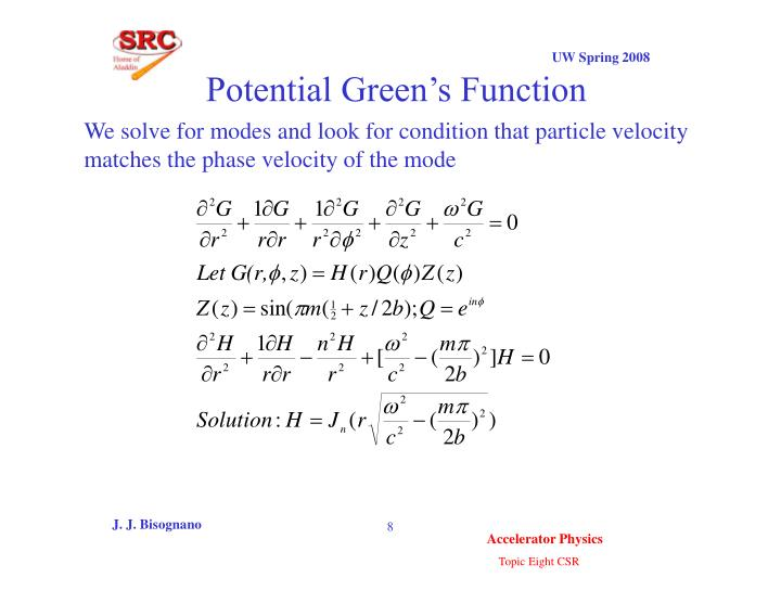Potential Green's Function