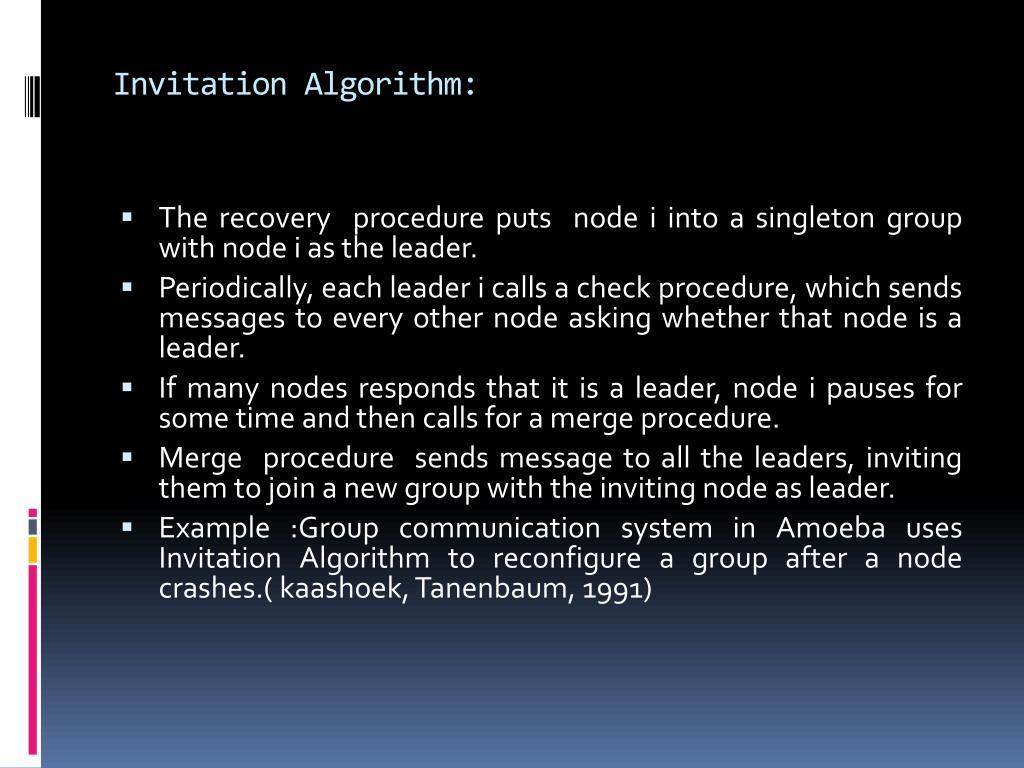 Invitation Algorithm: