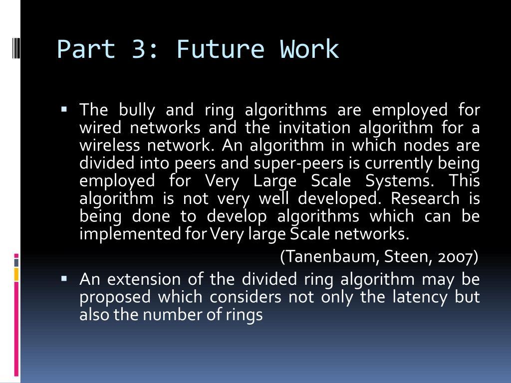 Part 3: Future Work