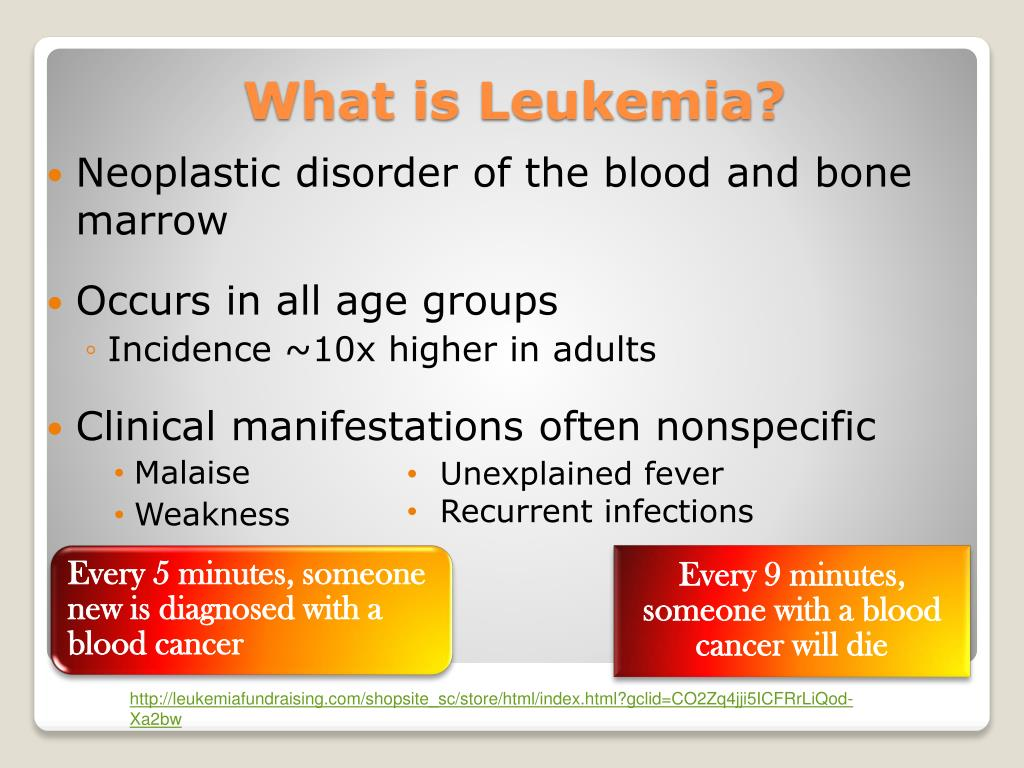 Neoplastic disorder of the blood and bone marrow