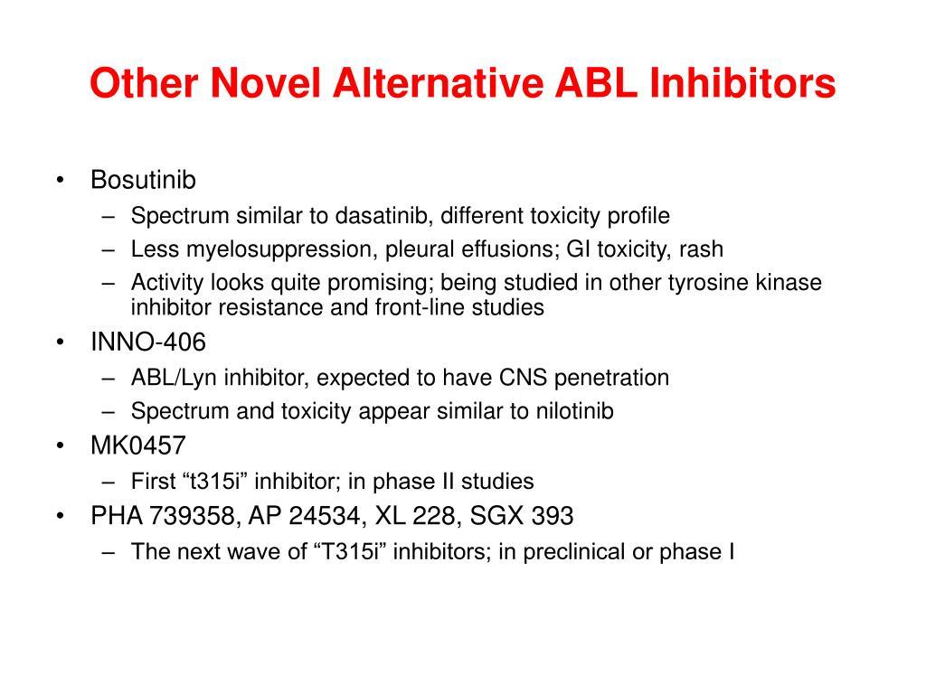 Other Novel Alternative ABL Inhibitors