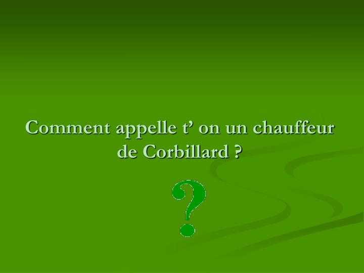 Comment appelle t on un chauffeur de corbillard