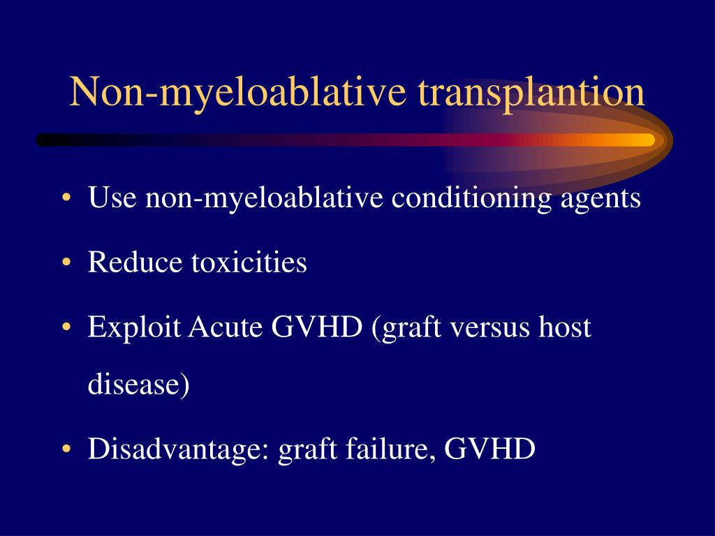 Non-myeloablative transplantion