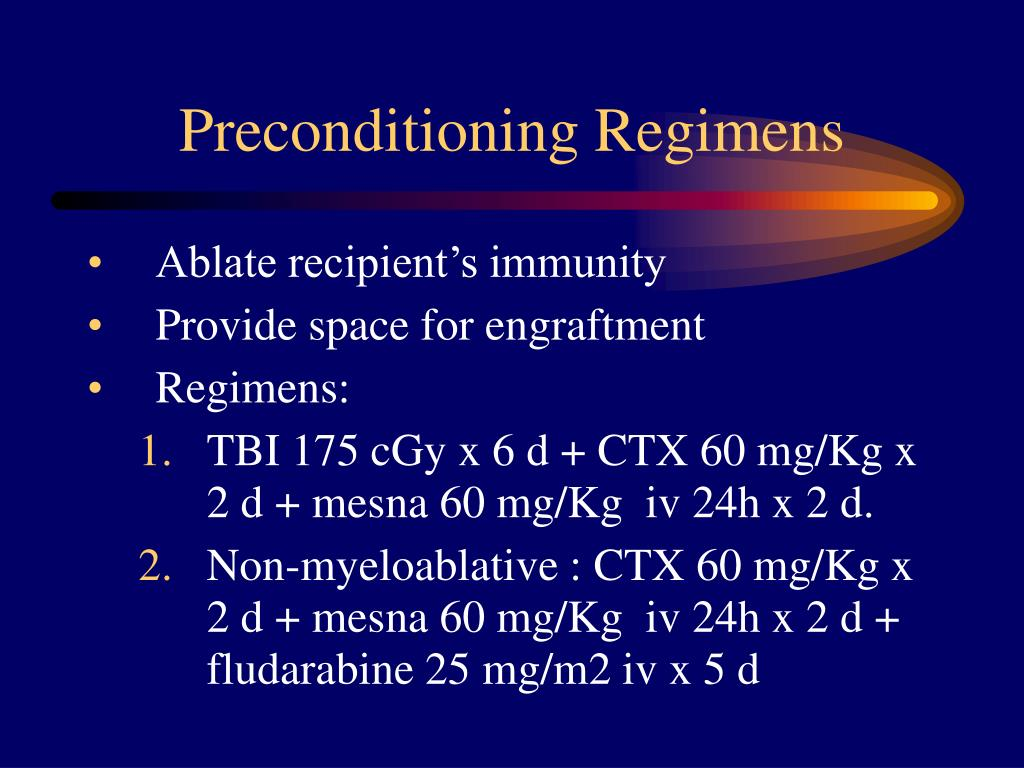 Preconditioning Regimens