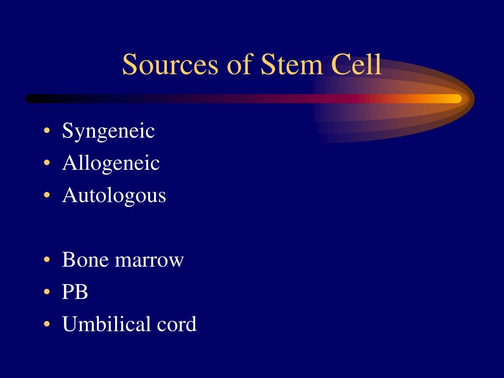 Sources of Stem Cell