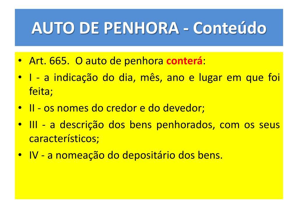 Modelo De Auto De Penhora Monografia October 2019 Serviço