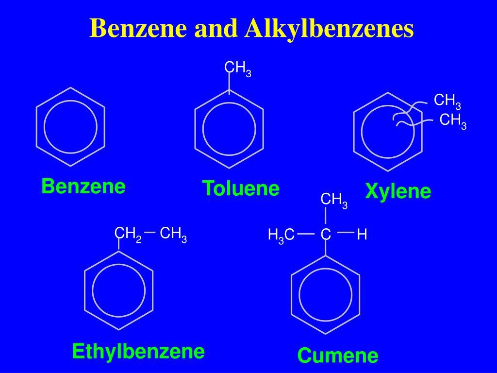 Benzene and Alkylbenzenes