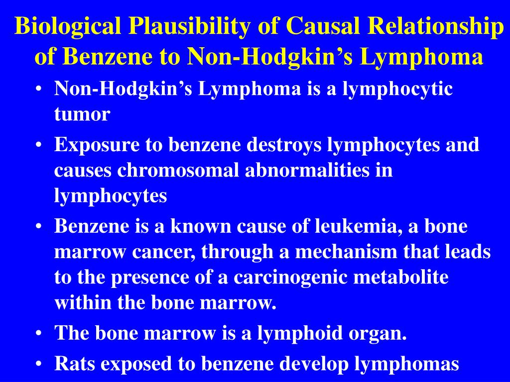 Biological Plausibility of Causal Relationship of Benzene to Non-Hodgkin's Lymphoma