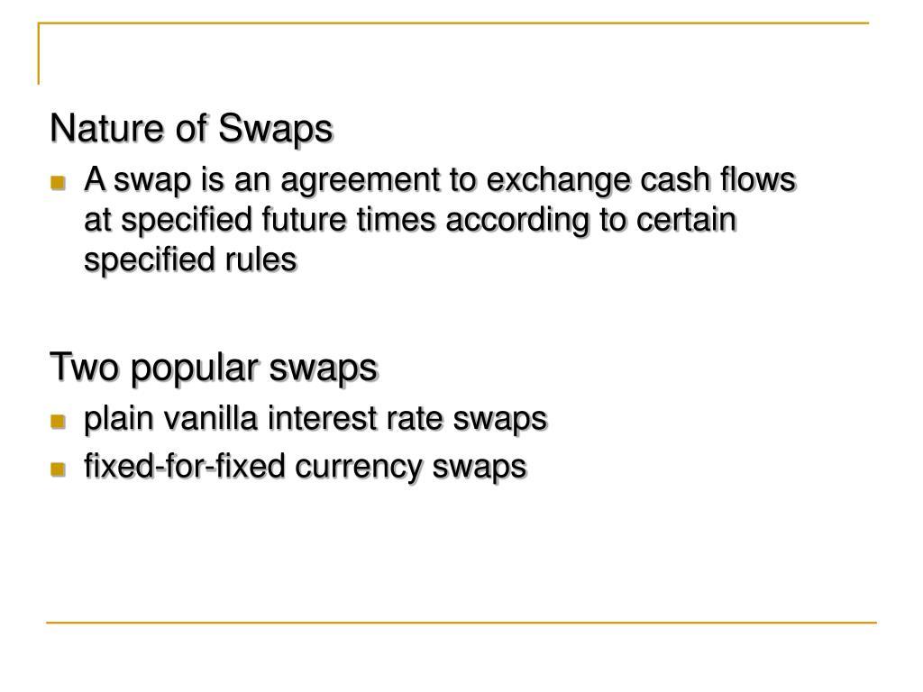 Nature of Swaps