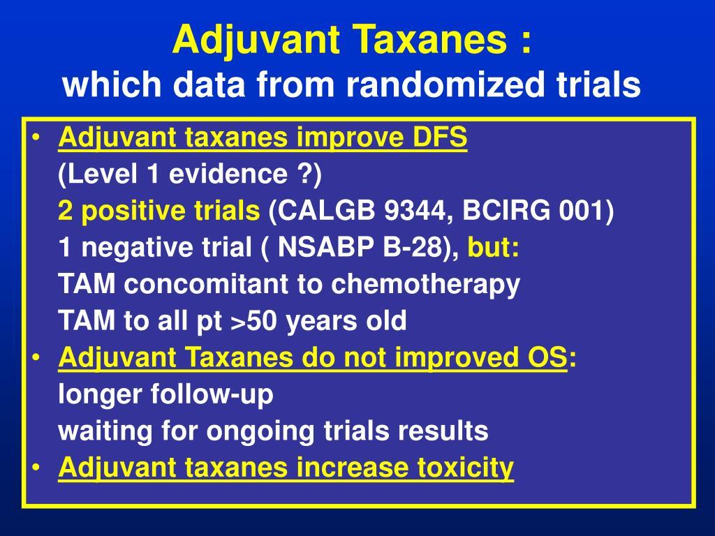 Adjuvant Taxanes :