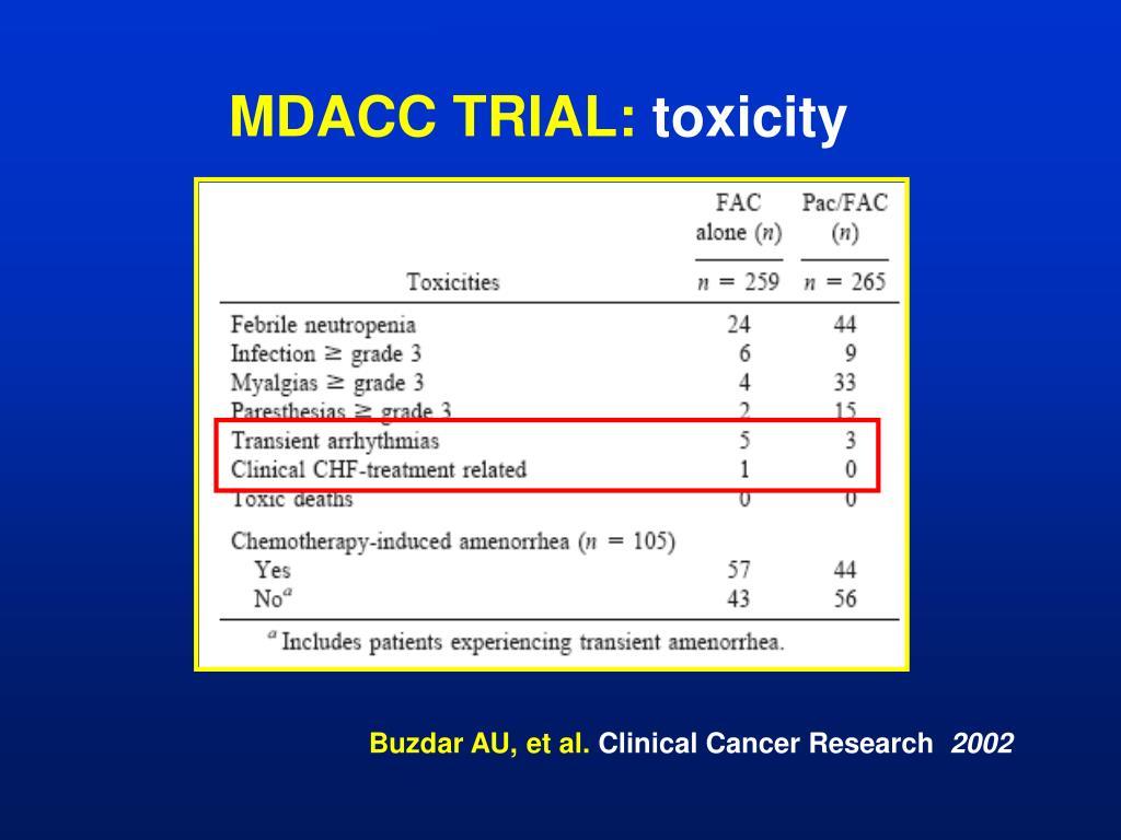 MDACC TRIAL: