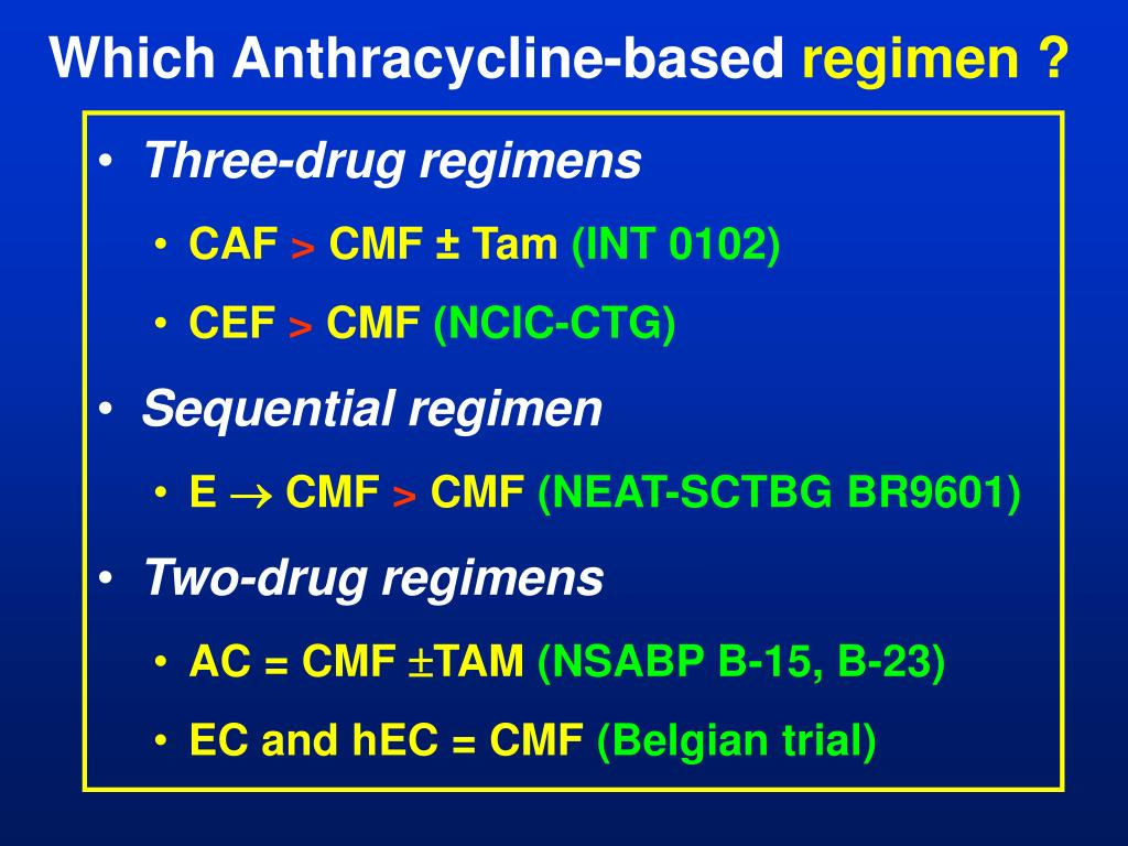Which Anthracycline-based
