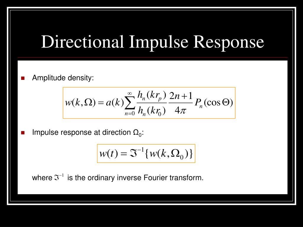 Directional Impulse Response