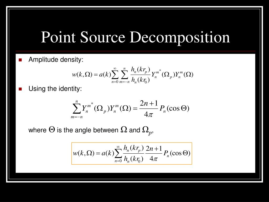 Point Source Decomposition