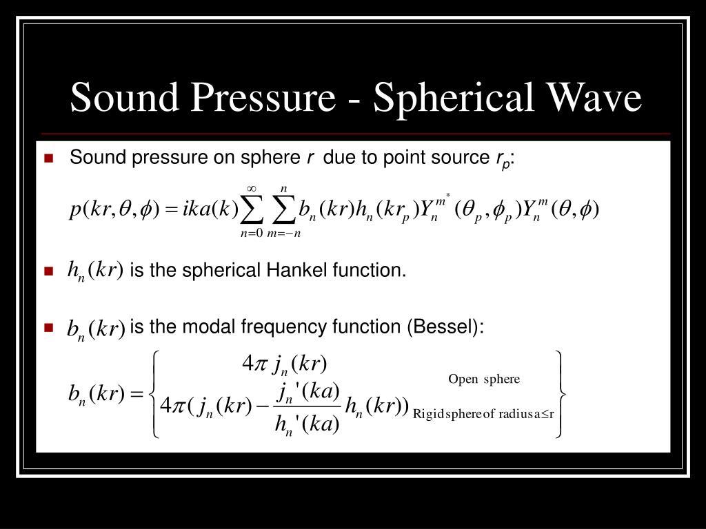 Sound Pressure - Spherical Wave