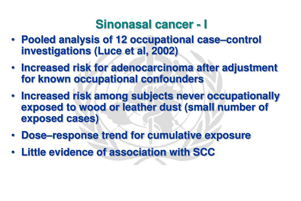 Sinonasal cancer - I