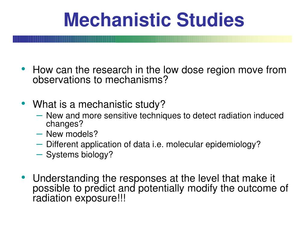 Mechanistic Studies