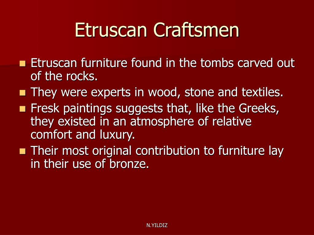 Etruscan Craftsmen