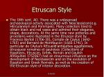 etruscan style