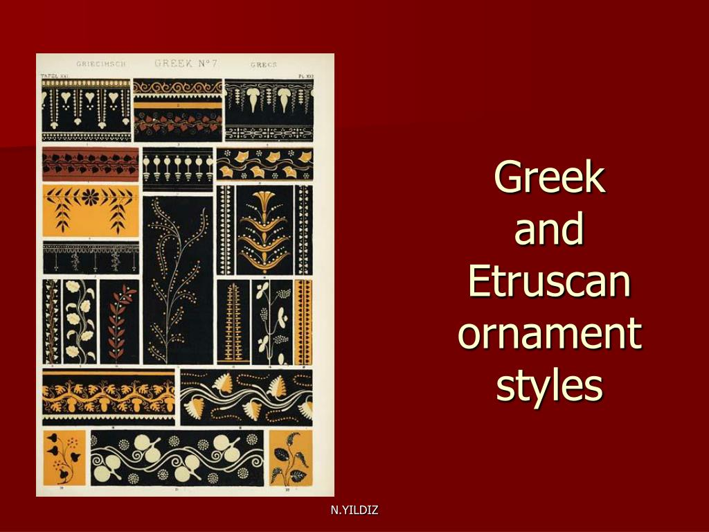Greek and Etruscan ornament styles