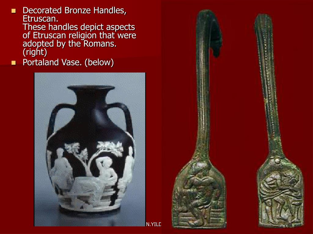 Decorated Bronze Handles,