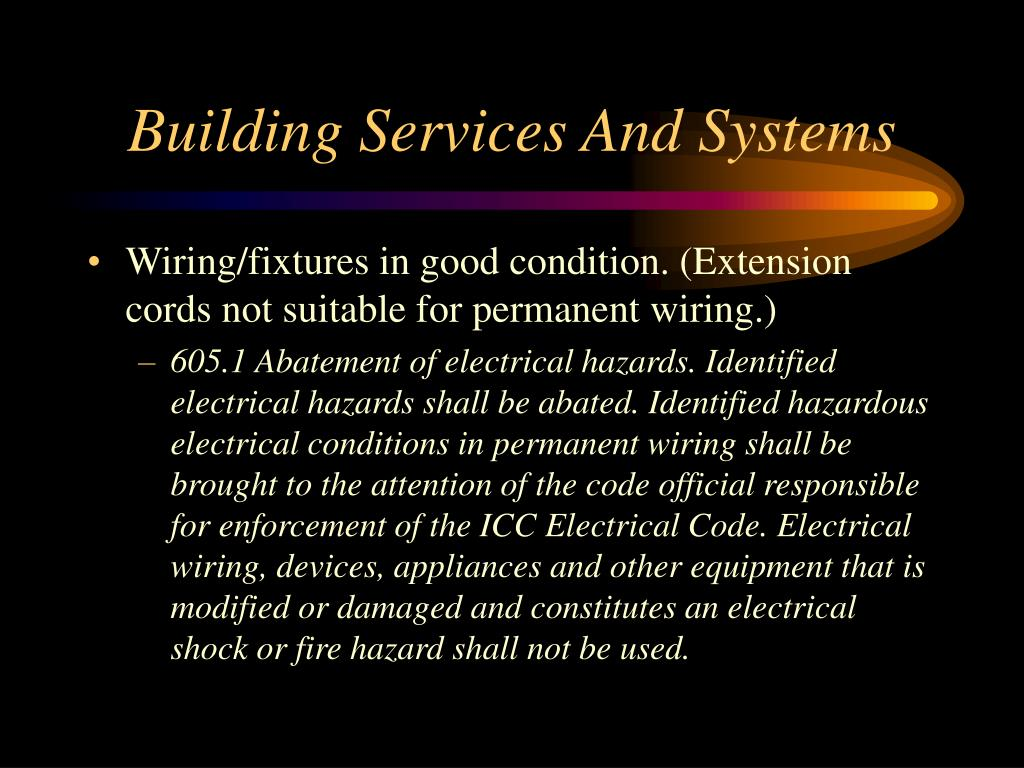 Building Services And Systems