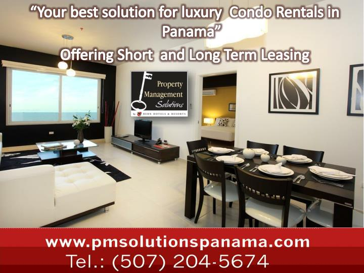 """Your best solution for luxury"