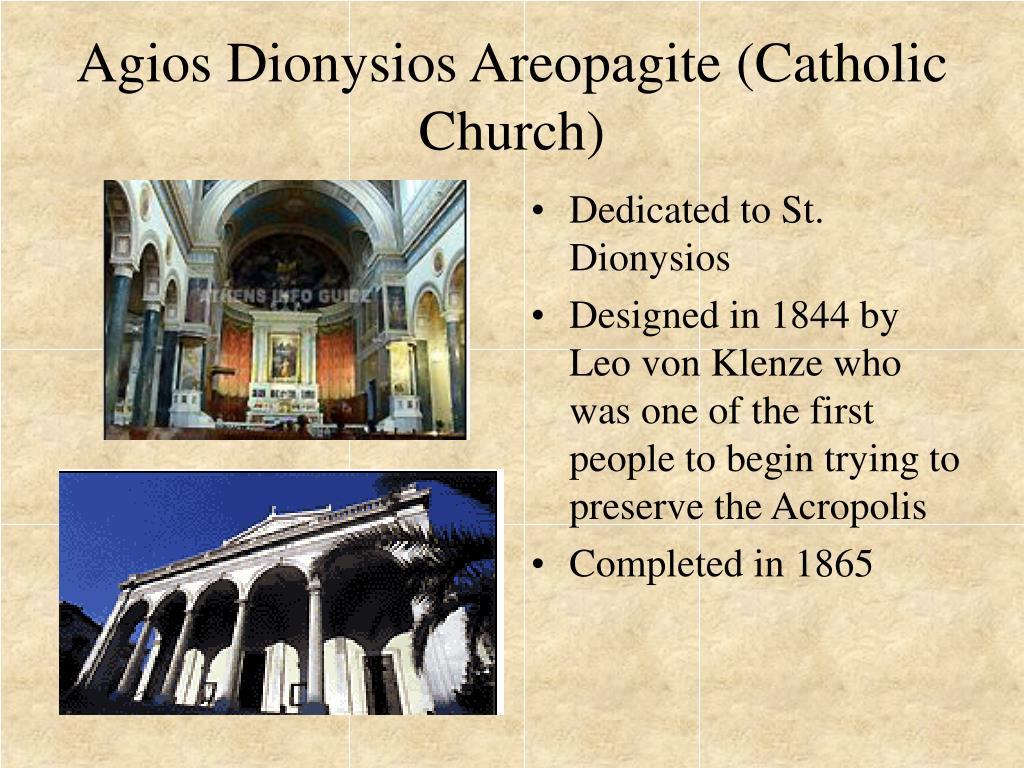 Dedicated to St. Dionysios