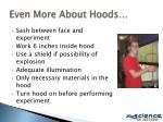 even more about hoods