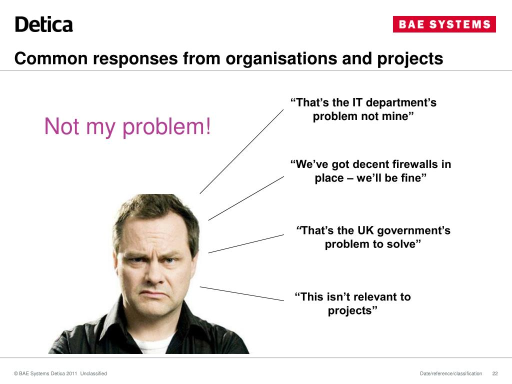 Common responses from organisations and projects