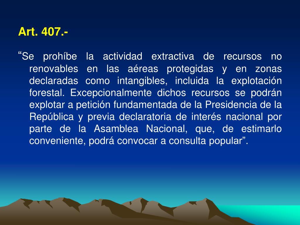 Art. 407.-
