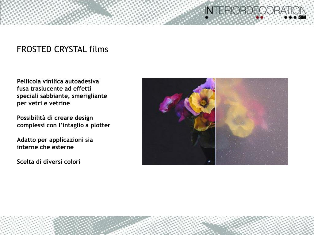 FROSTED CRYSTAL films