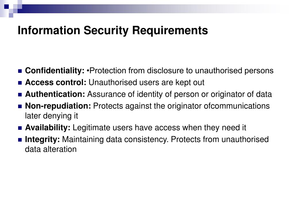 Information Security Requirements