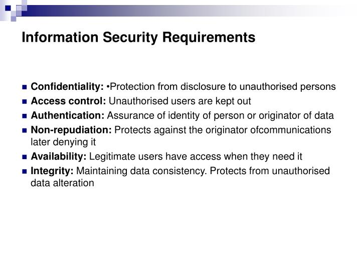 Information security requirements l.jpg