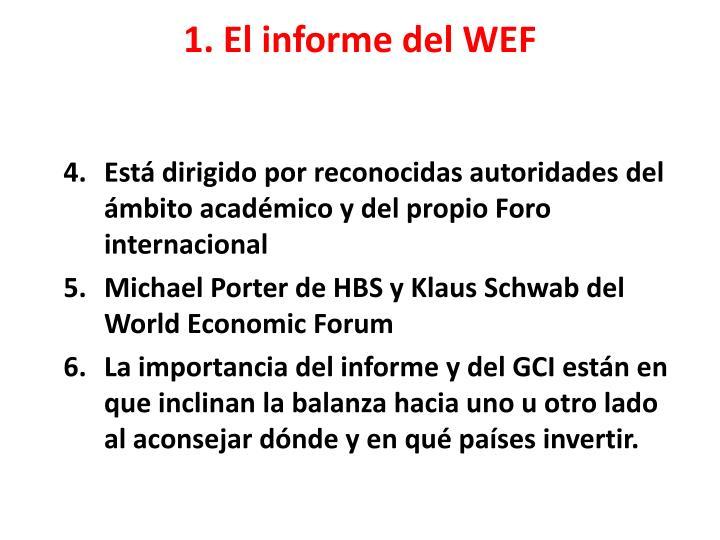 1. El informe del WEF