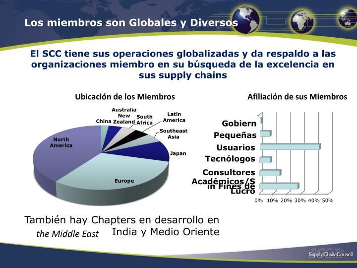 Los miembros son Globales y Diversos