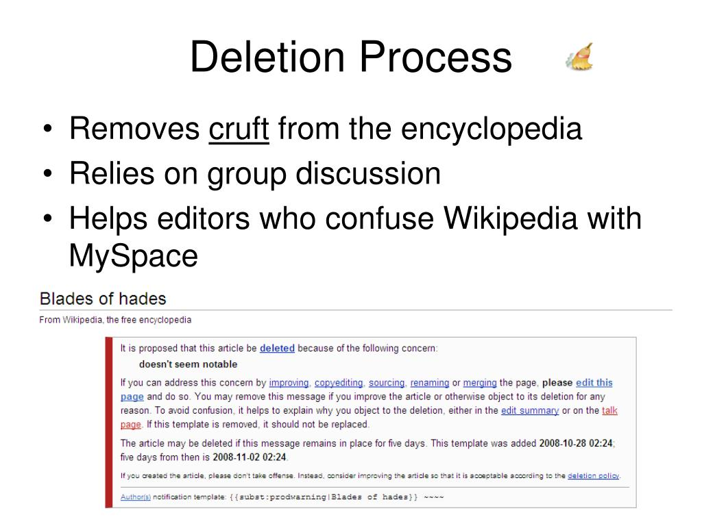 Deletion Process