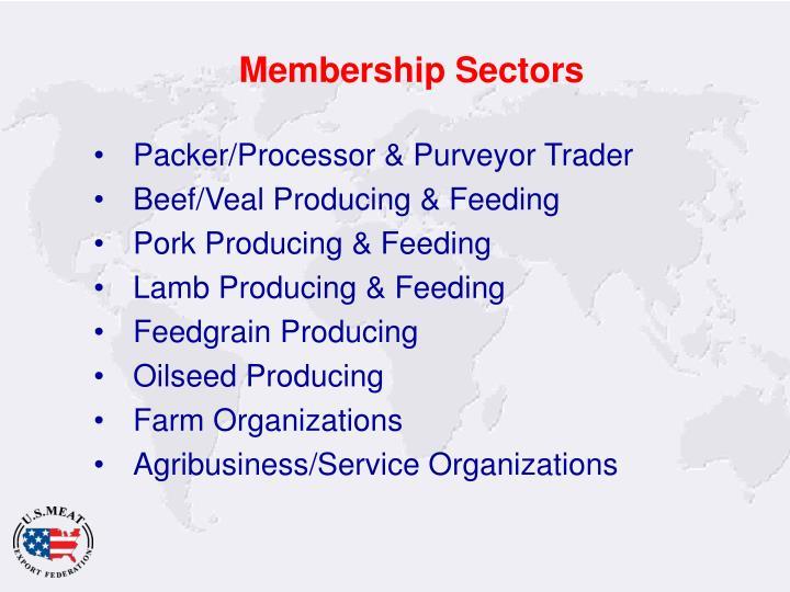 Membership Sectors