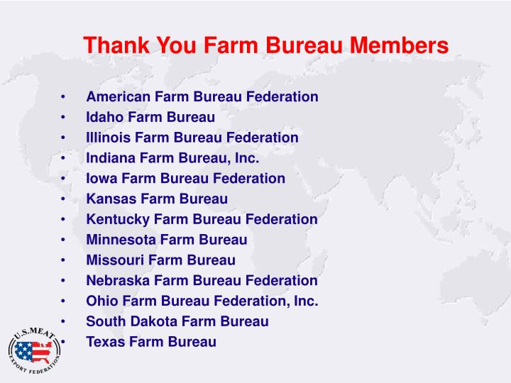 Thank You Farm Bureau Members