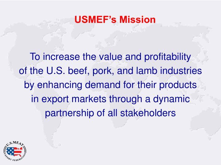 USMEF's Mission