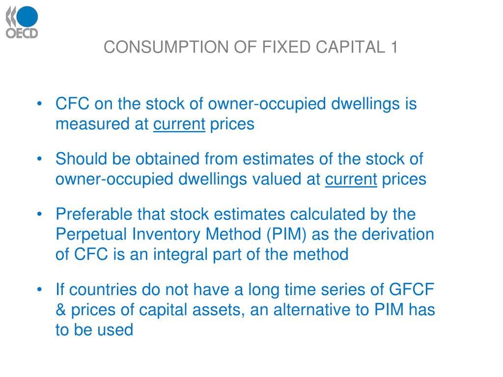 CONSUMPTION OF FIXED CAPITAL 1