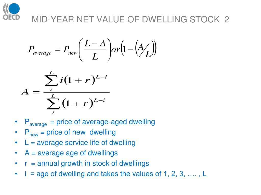 MID-YEAR NET VALUE OF DWELLING STOCK  2