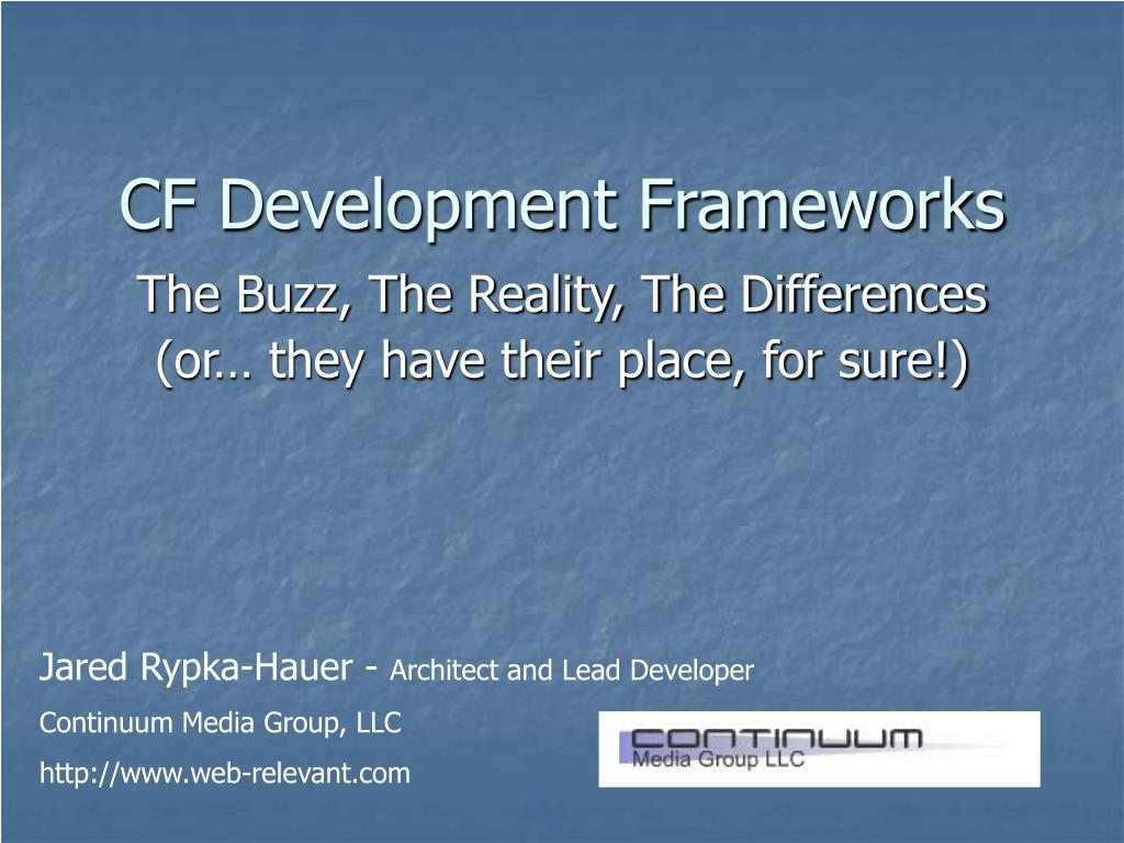 CF Development Frameworks