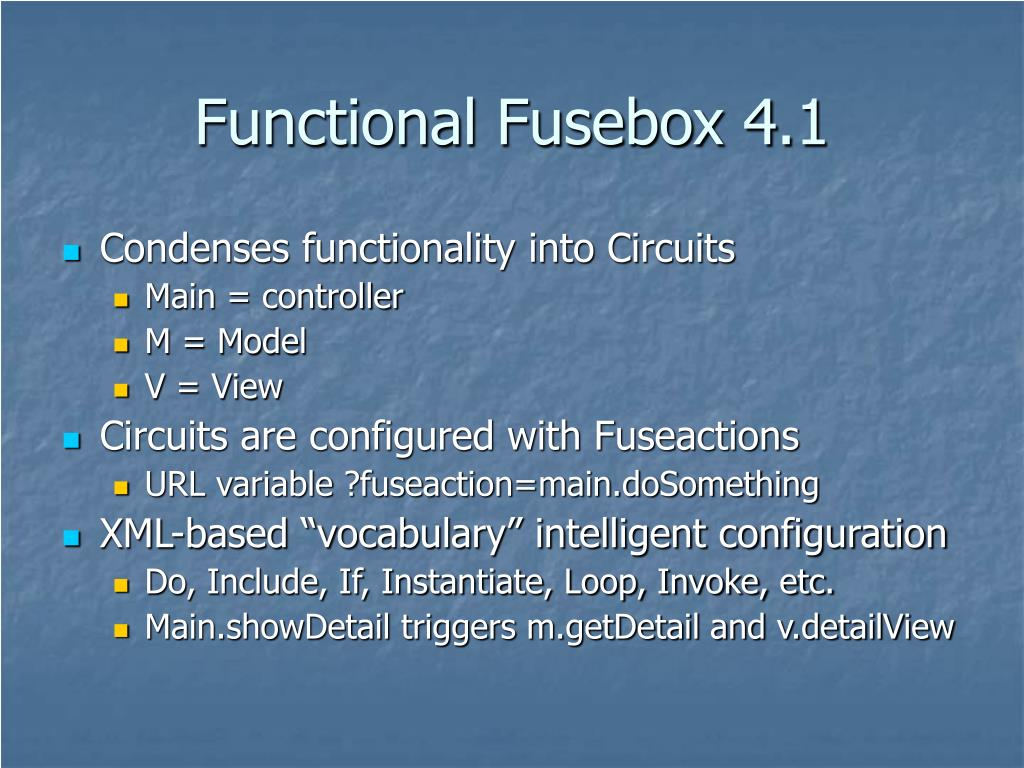 Functional Fusebox 4.1