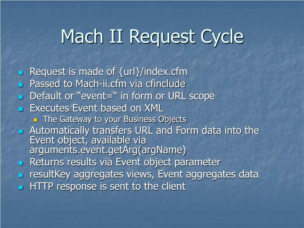 Mach II Request Cycle
