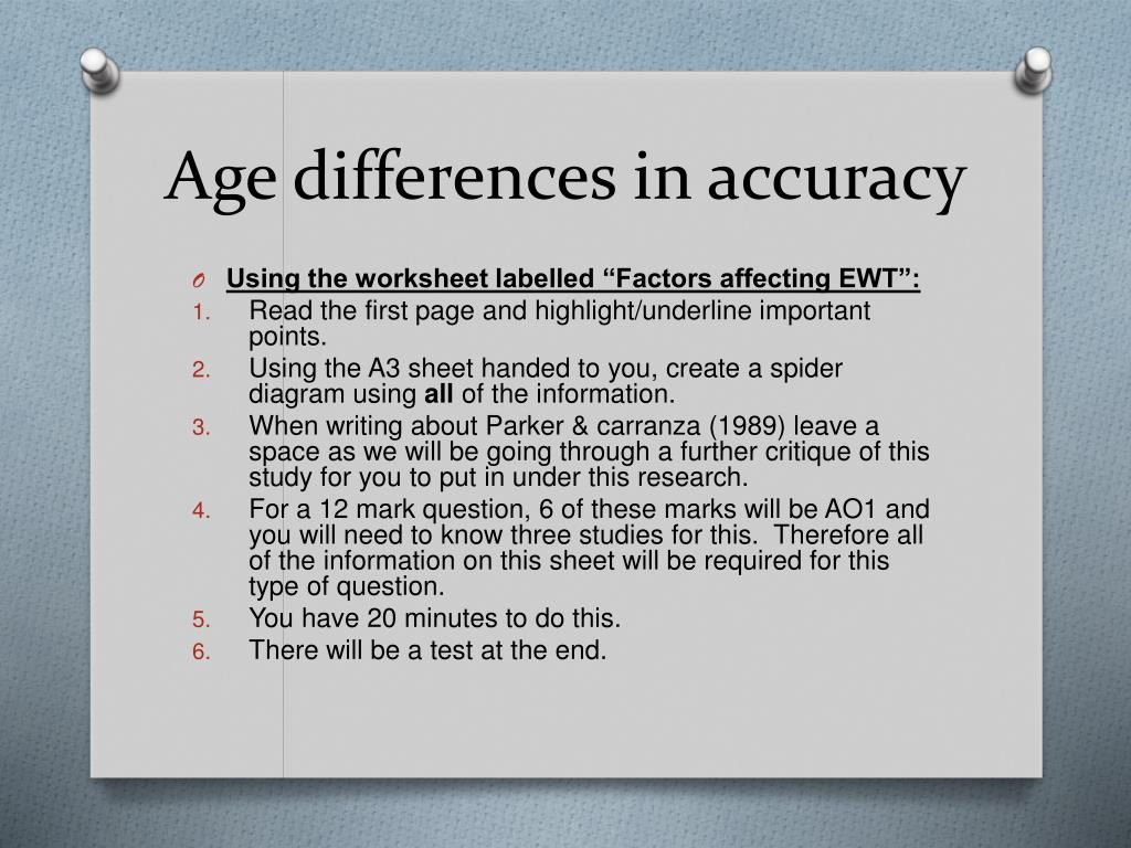 Age differences in accuracy